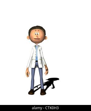 Cartoon-Figur-Chemiker Stockbild