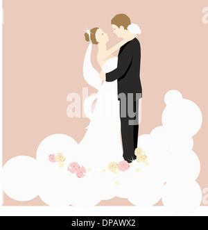 Eine Braut und Bräutigam Stockbild