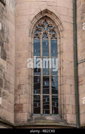 Fenster eines alten historischen Gebäude Stockbild