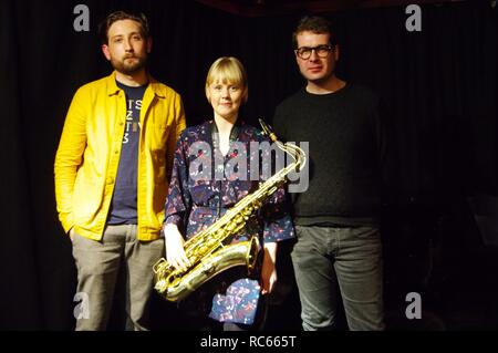 Ferg Irland, Helena Kay und David Ingamells, Verdikt Jazz Club, Brighton, East Sussex, 15. Dez 2018. Stockbild