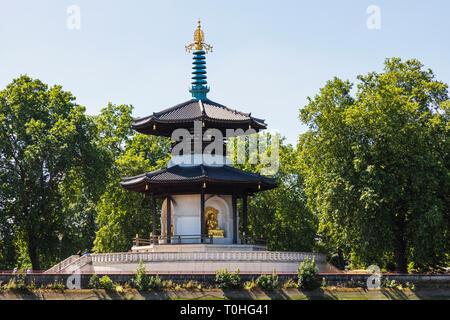 England, London, Wandsworth, London Battersea Park, Frieden Pagode Stockbild