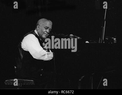Ray Bryant, Brecon Jazz Festival, Brecon, Wales, August 2002. Stockbild