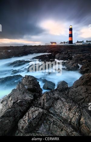 Nacht Schuss von Leuchtturm St. Johns Co Down, Nordirland. Stockbild