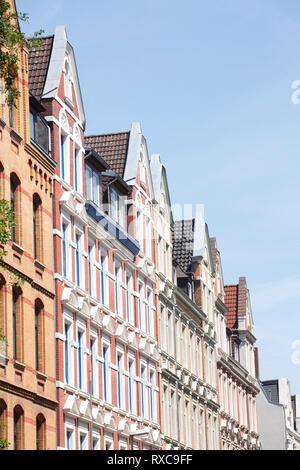 Alte Wohnhäuser, Stadtteil Linden-Mitte, Hannover, Niedersachsen, Deutschland, Europa ich alte Wohnhäuser, Stadtteil Linden-Mitte, Hannover, Nieder Stockbild