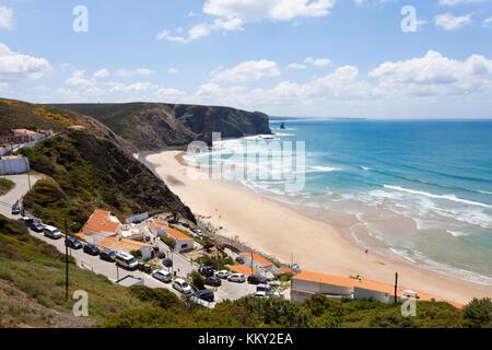 Portugal - Algarve - Surfen am Praia da Arrifana - Europa Stockbild