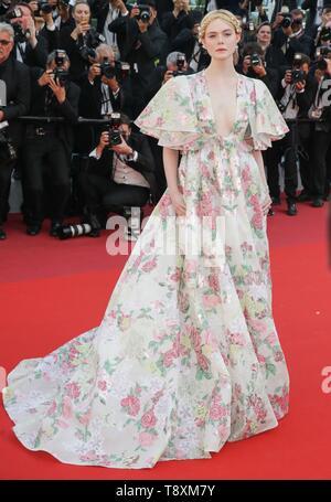 Elle Fanning, 2019 Cannes Stockbild