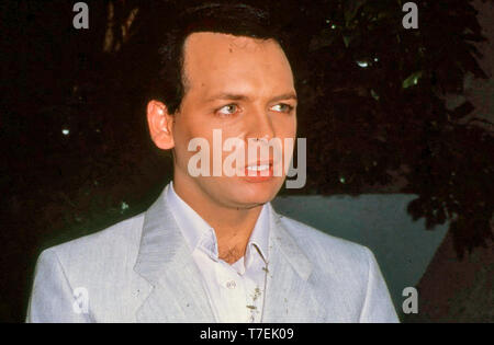 GARY NUMAN Deutsch pop Sänger und Musiker ca. 1984 Stockbild