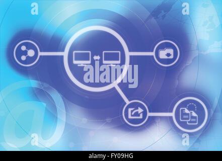 Illustration der Datenübertragung Konzept Stockbild