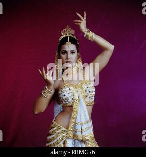 Portrait von ritu Shivpuri tanzen, Indien, Asien Stockbild