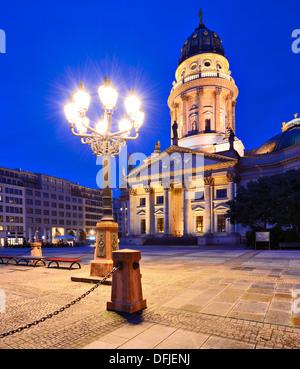Am historischen Gendarmenmarkt Square in Berlin, Deutschland. Stockbild