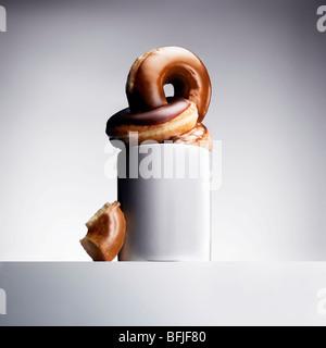 Kaffee und Donuts Stockbild
