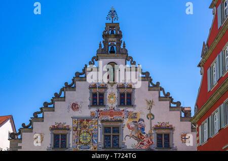 Das Alte Rathaus am Bismarckplatz im historischen Viertel von Lindau, Bayern, Deutschland, Europa. Stockbild
