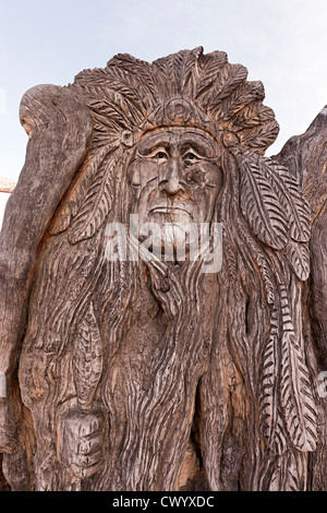 Holzschnitzerei Sedona Arizona USA Stockbild