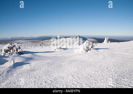 Schneekoppe Stockbild
