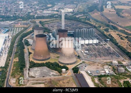Rugeley B Power Station, Staffordshire, 2018. Rugeley B war ein Kohlekraftwerk im Jahre 1970 in Auftrag gegeben. Er schloss im Juni 2016. Stockbild