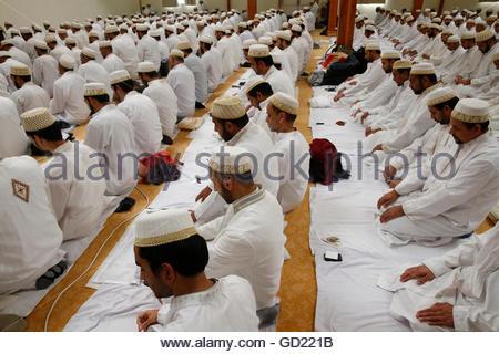 Ashura-Fest in einem Anjuman-E-Burhani Moschee, Roissy-En-Brie, Seine et Marne, Frankreich, Europa Stockbild