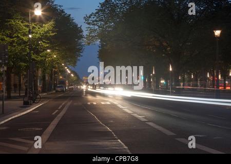 Unter Den Linden Berlin, Deutschland Stockbild