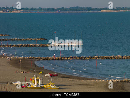 Lido di Venezia Strand, Region Veneto, Venedig, Italien Stockbild