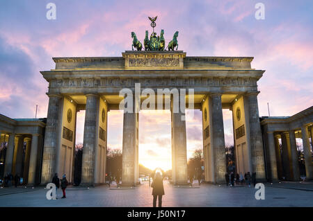 Brandenburger Tor Auf Pariser Platz Stockbild