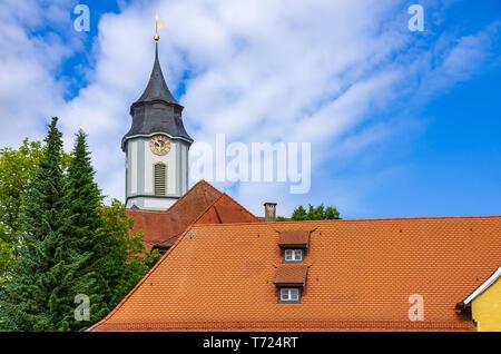 Münster Unserer Lieben Frau in der Altstadt von Lindau im Bodensee, Bayern, Deutschland, Europa. Stockbild