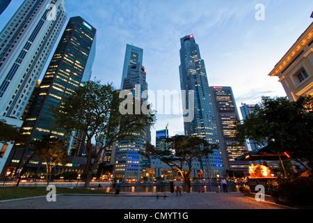 Asien-Singapur Skyline panorama Stockbild