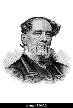 Charles John Huffam Dickens (Februar 7, 1812 - Juni 9, 1870) war ein englischer Schriftsteller und Gesellschaftskritiker. Er schuf einige der denkwürdigsten fiktionale Charaktere der Welt und gilt als der größte Schriftsteller der Viktorianischen Zeit angesehen. Dickens war der literarischen Koloss von seinem Alter und seinen Werken hatte einen beispiellosen Ruhm. Seine 1843 Novella, A Christmas Carol, ist einer der einflussreichsten Werke, das je geschrieben wurde, und es bleibt populär und setzt die Anpassungen in jedem künstlerischen Genre zu begeistern. Stockbild