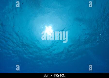 Mauritius - Afrika - Unterwasser Bild von der Wasseroberfläche Stockbild