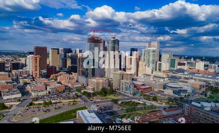 Die Innenstadt von Denver, Colorado im Jahr 2017 Stockbild