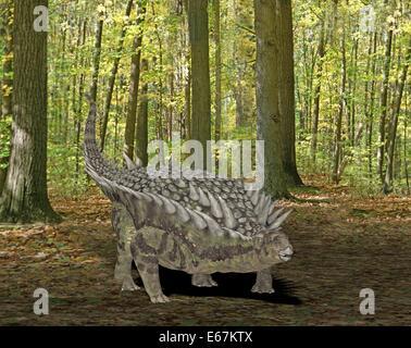 Dinosaurier Hungarosaurus / Dinosaurier Hungarosaurus Stockbild