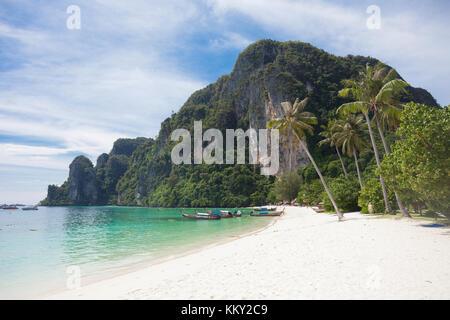 Thailand - Ruhe am Strand von Ko Phi Phi Don - Krabi - Asien Stockbild