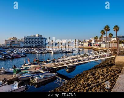 Marina in Faro, Algarve, Portugal, Europa Stockbild