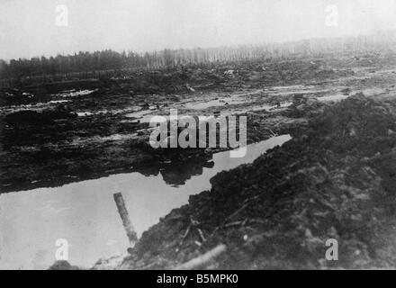 9 1916 3 18-A1 11 E Schlacht von Postawy 1916 Schlachtfeld Weltkrieg östlichen vorderen Niederlage der russischen Stockbild