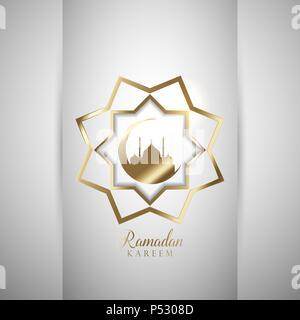 Dekorativer Hintergrund für Ramadan Stockbild