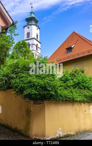 Kirche St. Stephan in der Altstadt von Lindau im Bodensee, Bayern, Deutschland, Europa. Stockbild