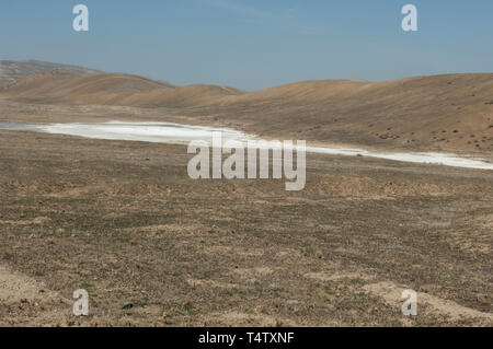 Soda See auf der San Andreas Störung, Carrizo Plain National Monument, Kalifornien. Digitale Fotografie Stockbild