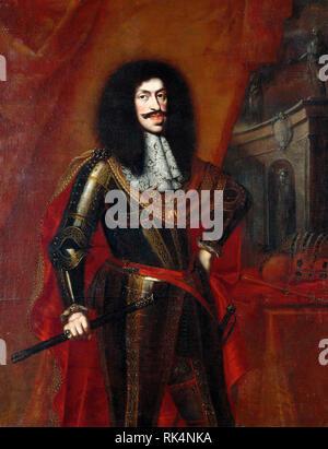 LEOPOLD 1, Kaiser des Heiligen Römischen Reiches (1640-1705) von Benjamin von Block 1672 lackiert Stockbild