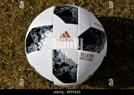 Telstra 18 offizielle FIFA-WM-Ball Stockbild