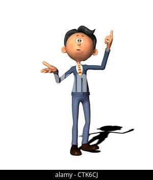 Cartoon-Figur-Business-Mann Stockbild