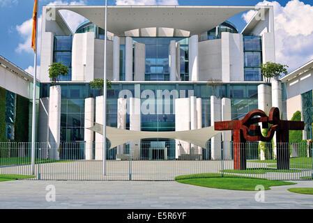 Deutschland, Berlin: Außen Ansicht des Gebäudes des Bundeskanzleramtes Stockbild