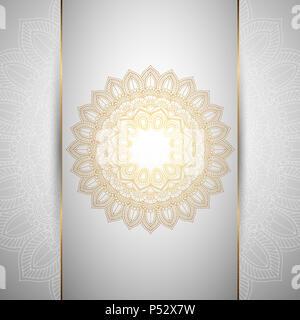 Dekorativer Hintergrund mit einem dekorativen Mandala Design Stockbild