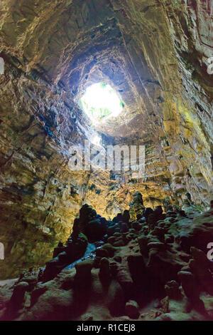 Grotta di Castellano, Apulien, Italien - ein riesiges Höhlensystem unter der Oberfläche Stockbild