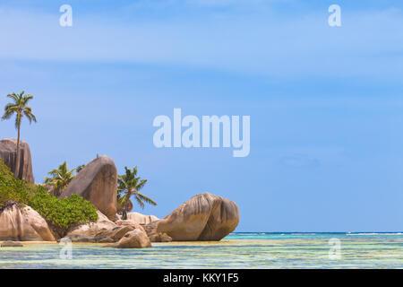 Anse Source D'Argent - Seychellen - Afrika Stockbild
