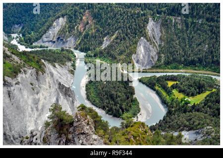 Laax/Flimms, Schweiz Stockbild
