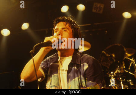 FAITH NO MORE American Rock Band mit Sänger Mike Patton über 1990 Stockbild