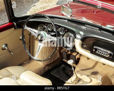 1958 Maserati 3500 GT Cabriolet von Touring Superleggera von Mailand Stockbild