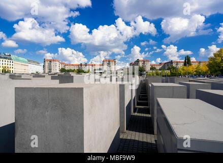 Holocaust Mahnmal Berlin, Deutschland, Europa Stockbild