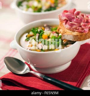 Korsische Suppe Stockbild