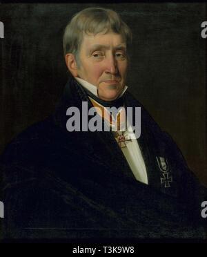 Porträt von Franz Gerhard Wegeler (1765-1848), 1839. In der Sammlung des Beethoven-hauses, Bonn gefunden. Stockbild