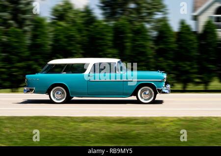 Chevrolet Bel Air Nomad 1955 Stockbild