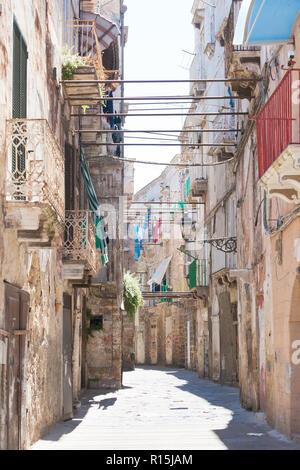 Taranto, Apulien, Italien - wo die Zeit scheint bis in das Mittelalter zurück gedreht werden Stockbild